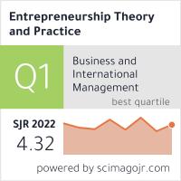 Entrepreneurship: Theory and Practice