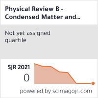 Physical Review B - Condensed Matter and Materials Physics