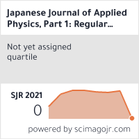 Japanese Journal of Applied Physics, Part 1: Regular Papers & Short Notes