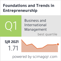 now publishers - Foundations and Trends® in Entrepreneurship