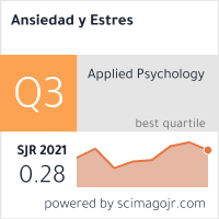 SCImago Journal & Country Rank para Ansiedad y Estrés