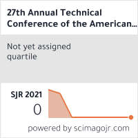 27th Annual Technical Conference of the American Society for