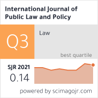 International Journal Of Public Law And Policy