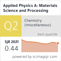 Applied Physics A: Materials Science and Processing