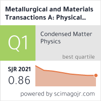 Metallurgical and Materials Transactions A: Physical Metallurgy and Materials Science