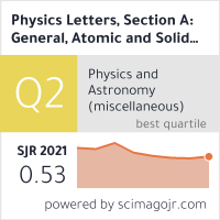 Physics Letters, Section A: General, Atomic and Solid State Physics