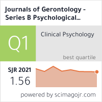 Journals of Gerontology - Series B Psychological Sciences and Social Sciences