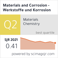 Materials and Corrosion - Werkstoffe und Korrosion
