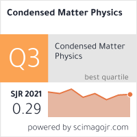 SCImago-статистика журнала Condensed Matter Physics